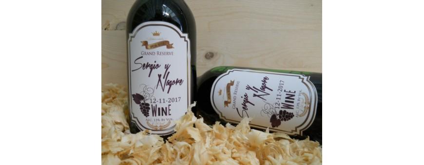 Etiquetas adhesivas para vinos