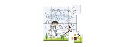 Invitaciones o recordatorios de Comunión en puzzle