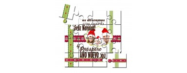 Puzzles felicitación de Navidad