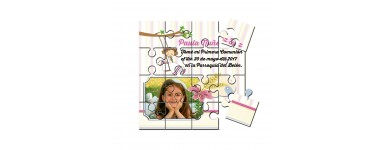 Invitaciones o recordatorios Comunion Puzzle