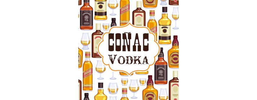 Botellines miniaturas Coñac y Vodka